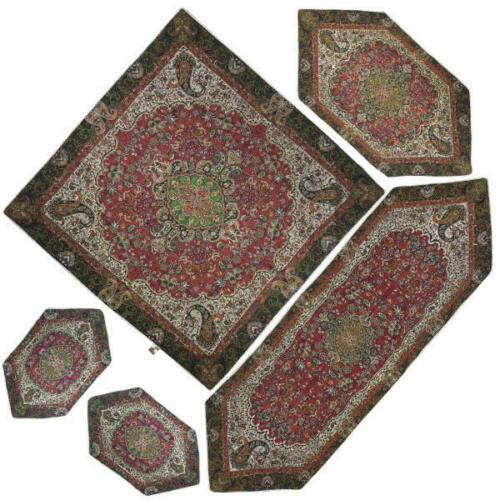 Termeh, Persian Style Tapestry Silk Tablecloth Code 35
