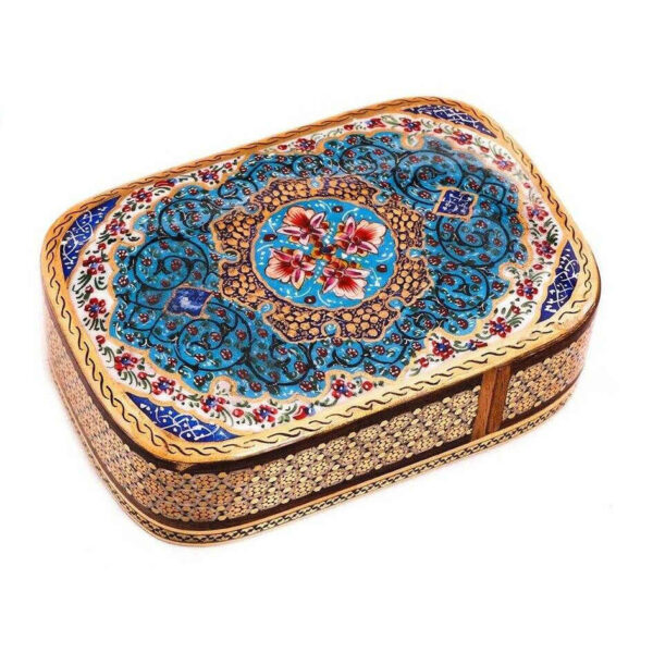 Wooden Playing Card Box Persian Khatam-Kari 04
