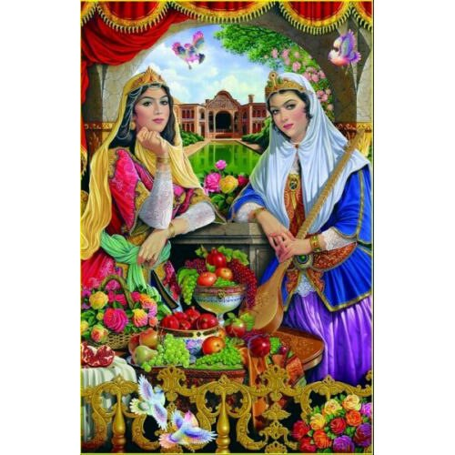 1000 Piece Persian Puzzle - 2 Girls
