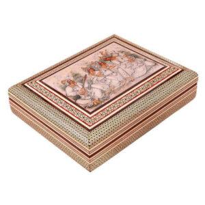 Khatam Kari Handmade Micro Mosaic Jewelry Box 11