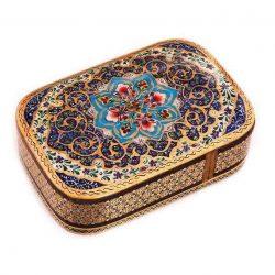 Khatam Kari Handmade Persian Wooden Playing Card Box 02
