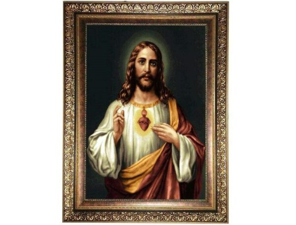 Christ Pictorial Wall Hanging Carpet Tableau Rug