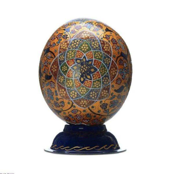 Ostrich Egg Shell Hand Painted MinaKari 6-70020