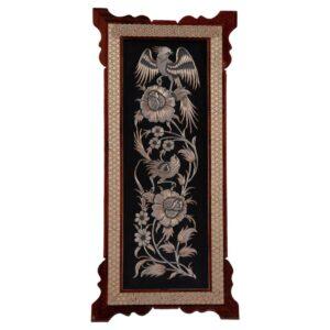 Persian Copper Engraved (Ghalamzani) Wall Hanging Frame 06
