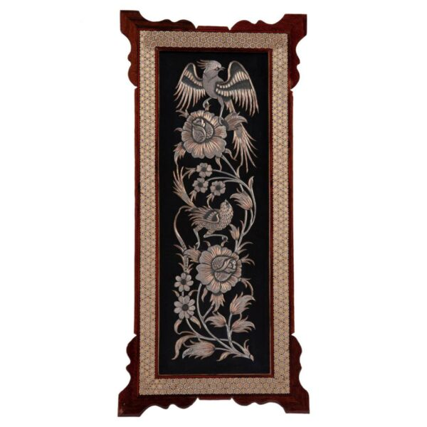 Persian Copper Engraved (Ghalamzani) Wall Hanging Frame 06