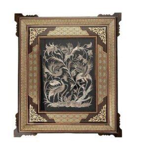 Persian Copper Engraved (Ghalamzani) Wall Hanging Frame 08