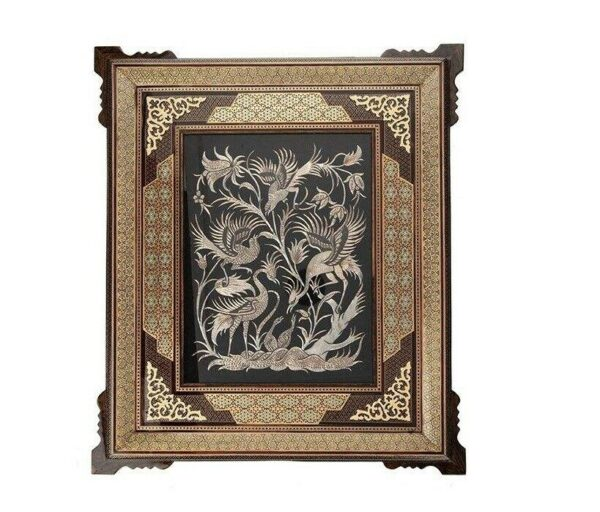 Persian Copper Engraved (Ghalamzani) Wall Hanging Frame 08