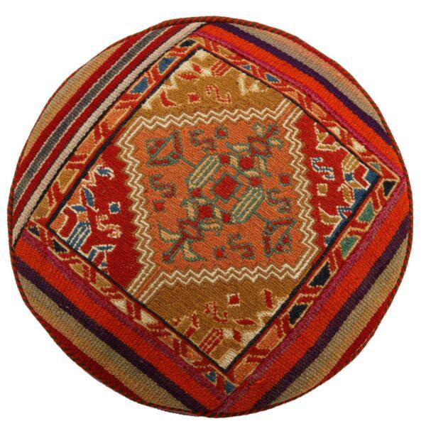Vintage Handmade Persian Kilim Footstool Pouf