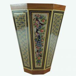 Khatam Kari Handmade Persian Wooden Enameled Bucket