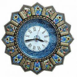 Khatam Kari & MinaKari Wooden Inlaid Wall Clock 07