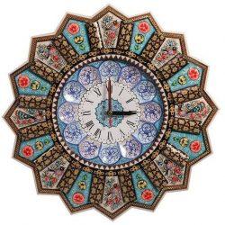 Khatam Kari & MinaKari Wooden Inlaid Wall Clock 08