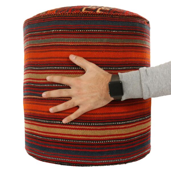 Handmade Persian Kilim Footstool Pouf H105