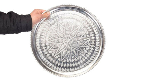 Persian Engraved Copper Plate Tray 960