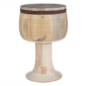 Persian Helmi Tonbak Tombak Zarb Drum Calf Skin Size 28