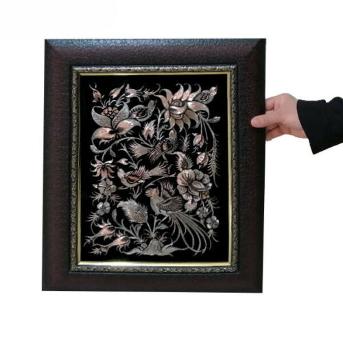 Vintage Persian Copper Wall Art - Ghalamzani 09