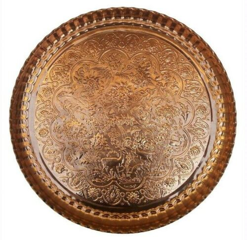 Persian Handmade Engraved Copper Tray Size 56 cm