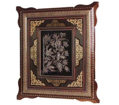 Persian Copper Engraved (Ghalamzani) Wall Hanging Frame 07