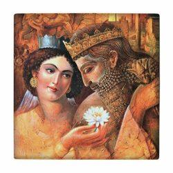 Persian Miniature Art Tile wk164