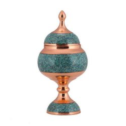 Persian Inlaid Turquoise Candy Sugar Nut Bowl 03