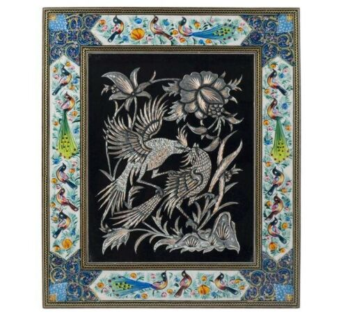 Persian Copper Engraved (Ghalamzani) Wall Hanging Frame 05