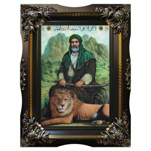 Pictorial Persian Tableau Rug - Ali Ibn Abi Talib