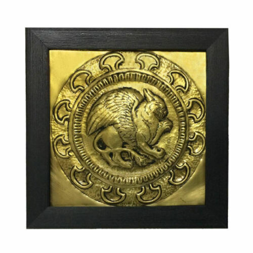 Vintage Persian Winged Lion Brass Wall Art