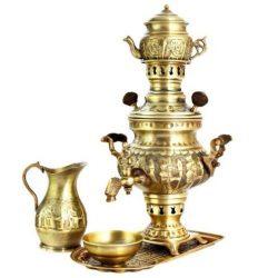 Set of 1 Liter Persian Brass Samovar 17