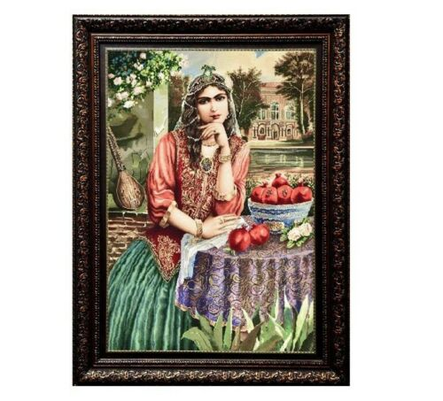 Pictorial Persian Wall Hanging Carpet Tableau Rug, PD12-6635