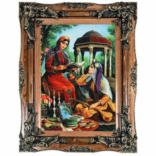 Pictorial Persian Tableau Rug - Girls MOH34