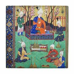 Persian Miniature Art Tile wk188