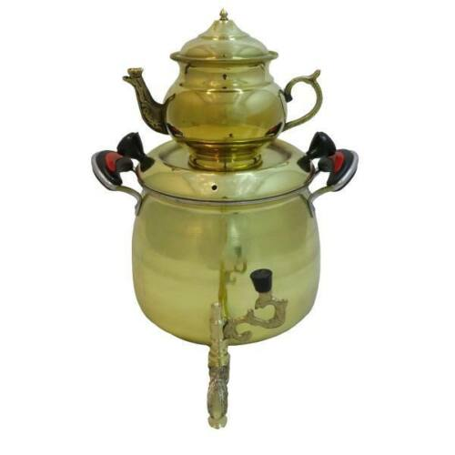 Persian Brass Samovar with Kettle Code 3