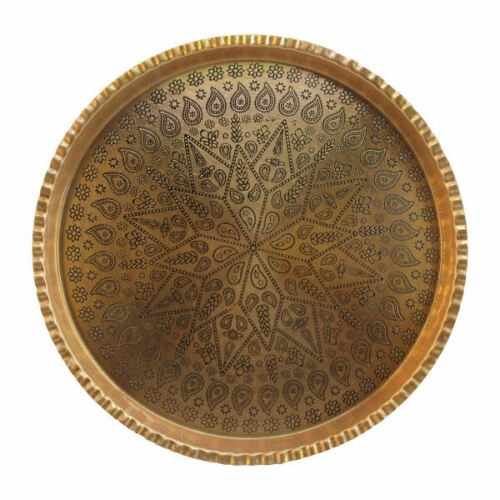 Persian Engraved Copper Tray Code 8