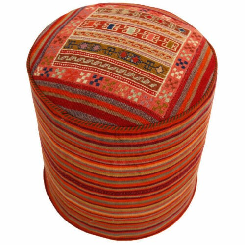 Handmade Persian Kilim Footstool Pouf 511529