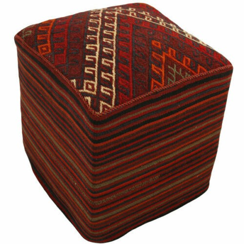 Handmade Persian Kilim Footstool Pouf h101