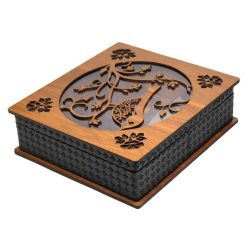 Luxury Wooden Tea Bag Box, Termeh Design LB58