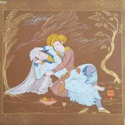 Layla & Majnun Watercolor & Gouache Hand Painting Code S1063