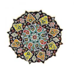 Persian MinaKari, Handmade Wall Hanging Plate 103