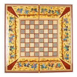 Handmade Khatamkari Chess Board Model Polo