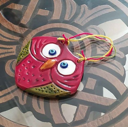 Decorate Clay Pendant, Owl Shape B130 (2x)