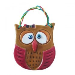 Decorate Clay Pendant, Owl Shape B120 (2x)