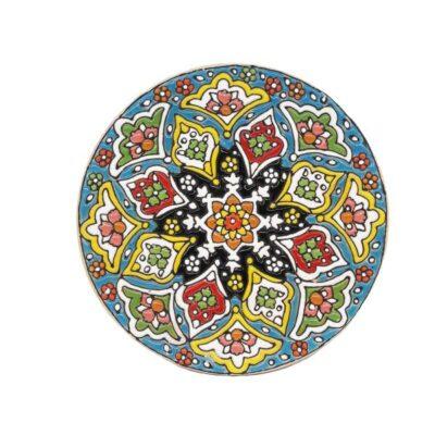 Persian MinaKari, Handmade Wall Hanging Plate 66