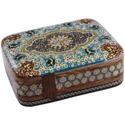 Wooden Playing Card Box Persian Khatam-Kari 08