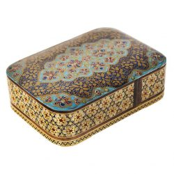 Wooden Playing Card Box Persian Khatam-Kari 11