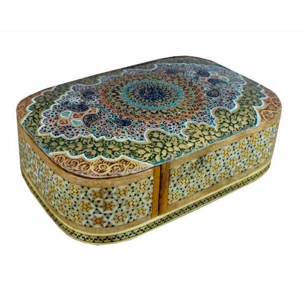 Wooden Playing Card Box Persian Khatam-Kari 09