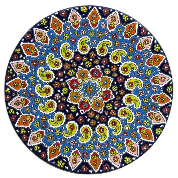 Persian MinaKari, Handmade Wall Hanging Plate 30