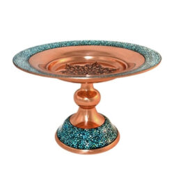 Turquoise Inlaid Persian Candy Bowl Dish 039