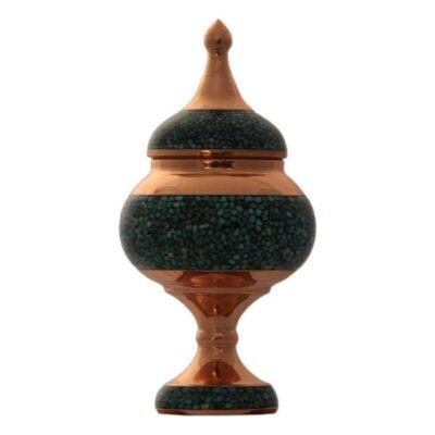 Turquoise Inlaid Persian Candy Sugar Bowl MFZ13