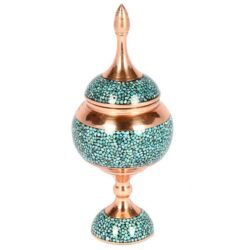 Turquoise Inlaid Persian Candy Sugar Bowl 133