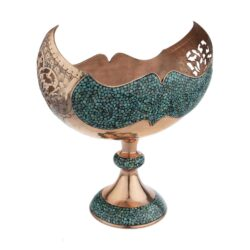 Turquoise Inlaid Persian Candy Sugar Bowl 666