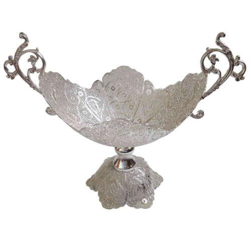 Filigree Silver Kashkul Bowl Dish 05